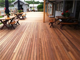 Ipe decking at Norwalk Yacht Club.JPG 5/4x6 strips