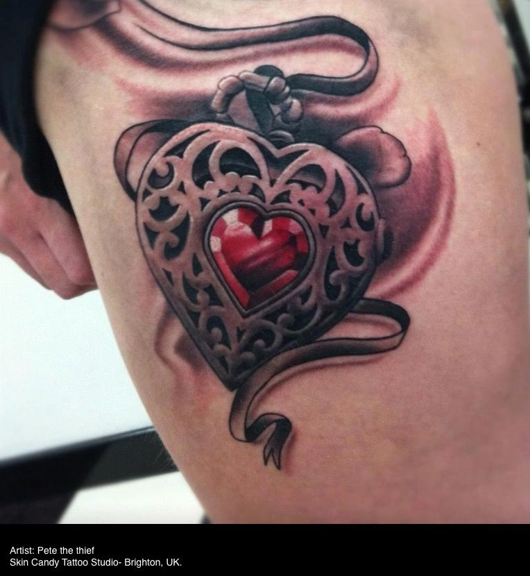 Heart Tattoo Omfg Love This For Chest Idea Tattoos