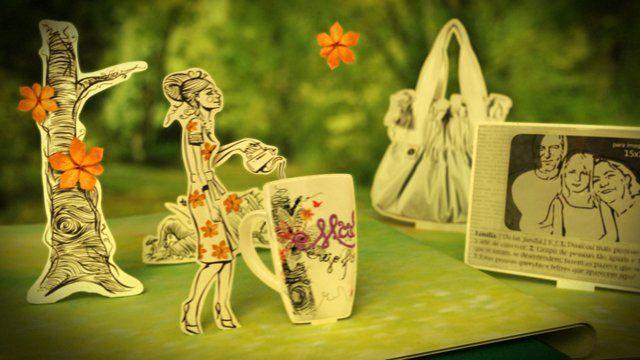"""Comercial de 15"""" desenvolvido para a campanha """"Mãe Vejo Flores em Você"""" da Imaginarium Técnicas: Motion Design, 3D, ilustração, estilo pop-up."""