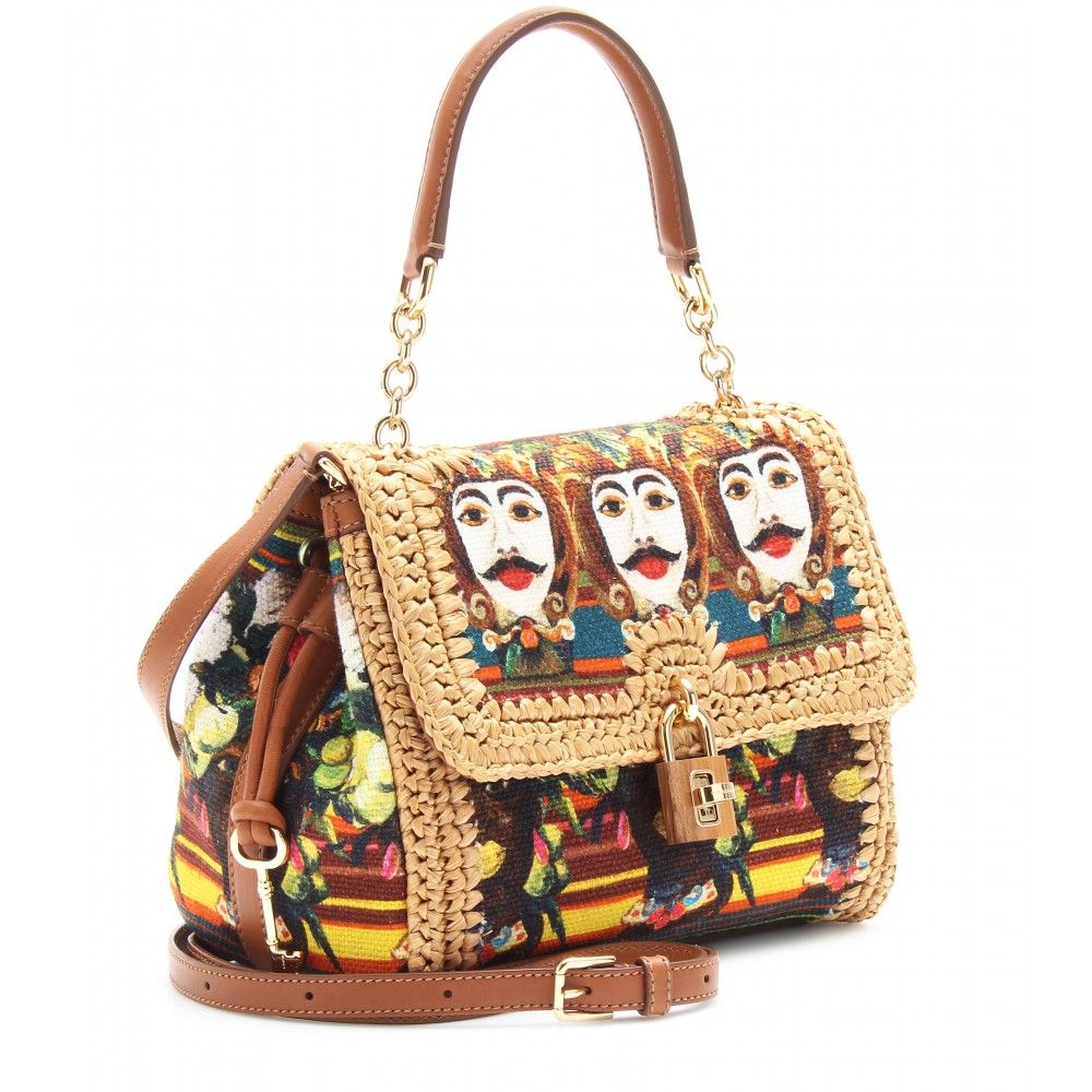 mytheresa.com - Dolce & Gabbana - DOLCE EMBROIDERED STRAW HANDBAG - Luxury Fashion for Women / Designer clothing, shoes, bags