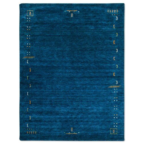Handgefertigter Teppich Stevie in Blau Bloomsbury Market Teppichgröße: Rund 200 cm