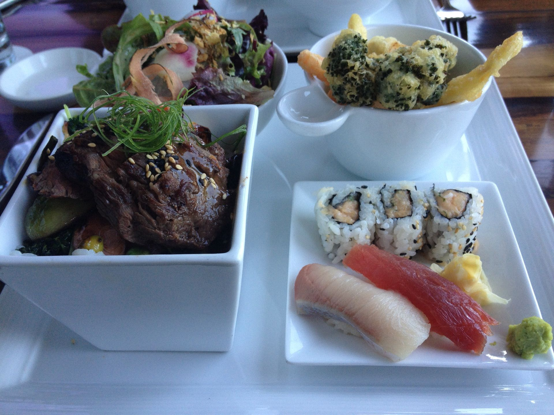 morimoto's contemporary japanese menu infuses traditional dishes