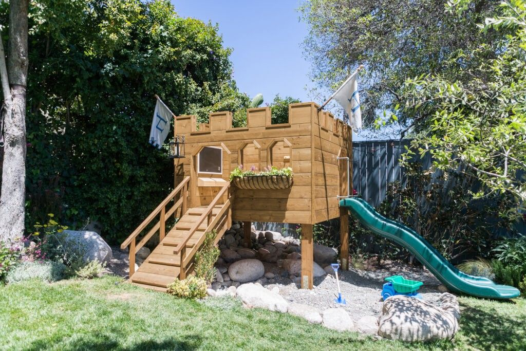 Playhouse image by Angela Pence | Backyard for kids ...