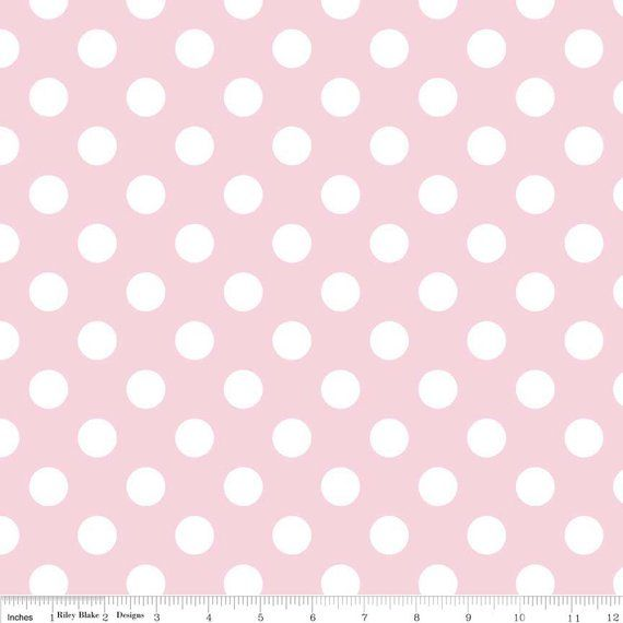 Polka Dot Pink Cotton Fabric By The Yard Baby Pink And White Etsy Polka Dot Fabric Dotted Fabric Pink Polka Dots
