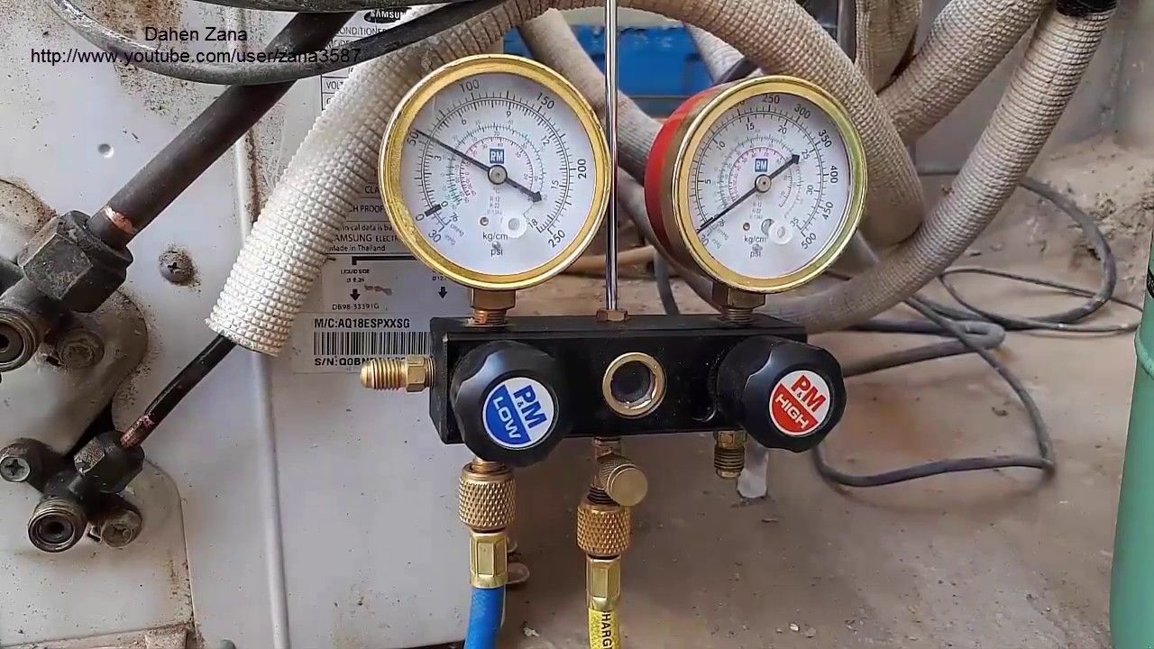 How to refill air conditioner by R22 (video 32) How to