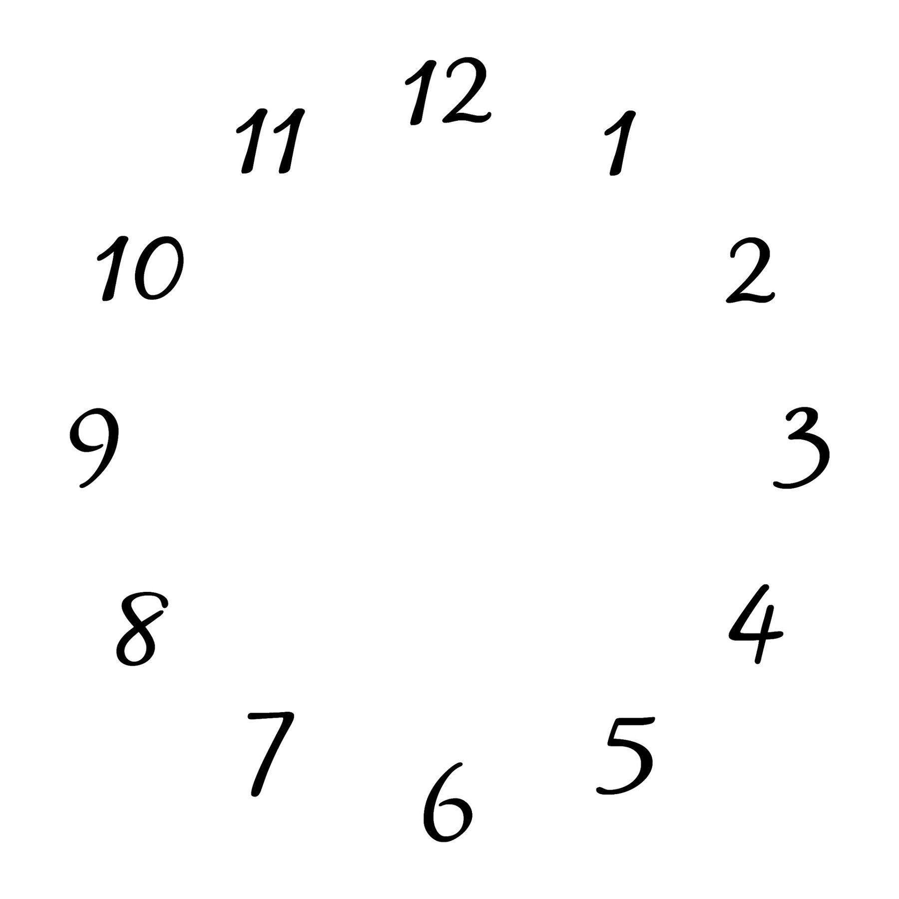 Image Result For Clock Face Template Download  Linen  Rust