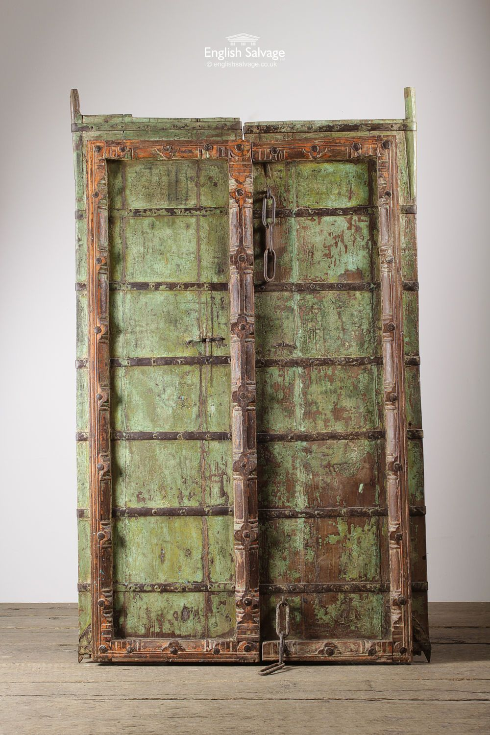 Architectural Salvage Reclamation Yard \u0026 Antiques & Unusual Thick Plank Double Doors / Panels   Reclaimed Doors ...