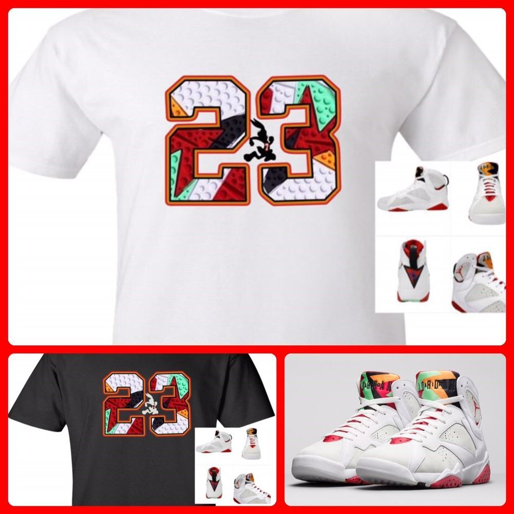 696262a3df1e EXCLUSIVE SHIRT TO MATCH NIKE AIR JORDAN 1 OR 7 VII HARES!