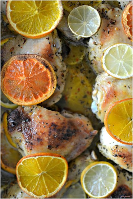 Sweet my Kitchen: Frango assado com citrinos