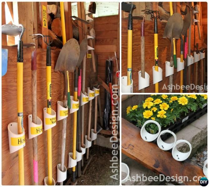 Diy Pvc Gardening Ideas And Projects: Garage Organization And Storage DIY Ideas Projects
