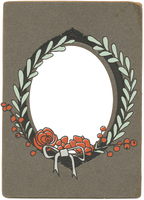 Free Antique Winter Blog Frame