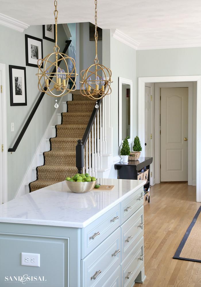 Best Coastal Kitchen Makeover The Reveal Blue Kitchen 400 x 300