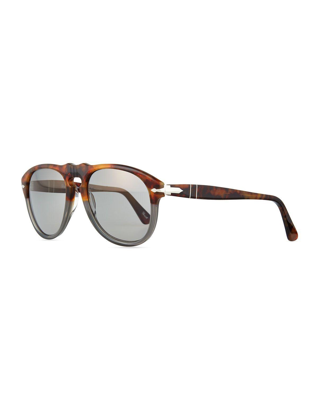 649-Series Acetate Sunglasses, Gray Tortoise - Persol   Clothes in ... 016e412fe5