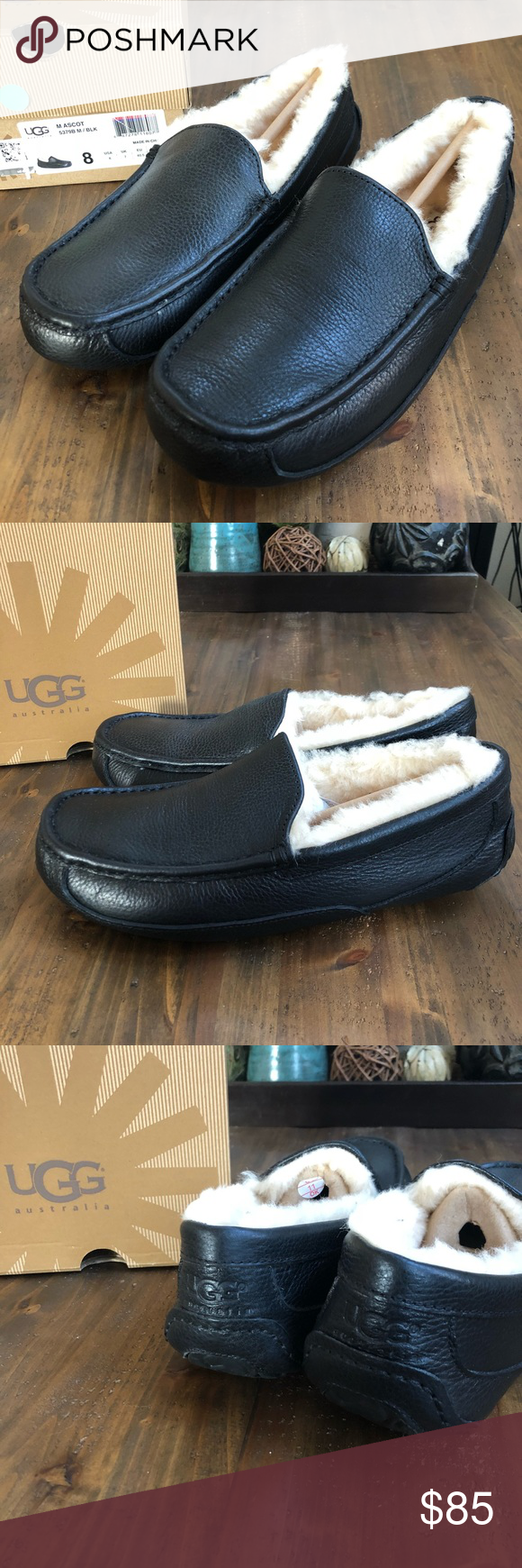 a70162ddfb1 Ugg Ascot Moccasin Slippers Leather also wo sz9.5 Uggs Slippers  UGG  Australia- UGGs Men Ascot - Leather Slippers. True to the UGG tradition of  laid-back ...