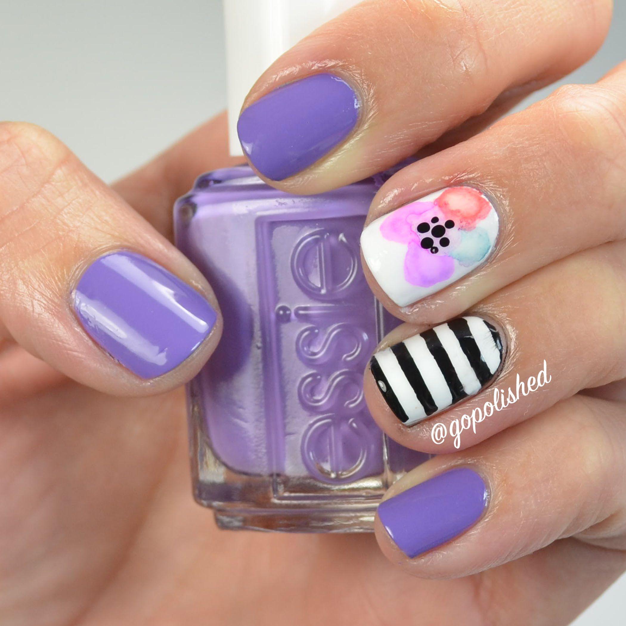 Full length tutorial for this fun Sharpie flower design. Easy nail ...