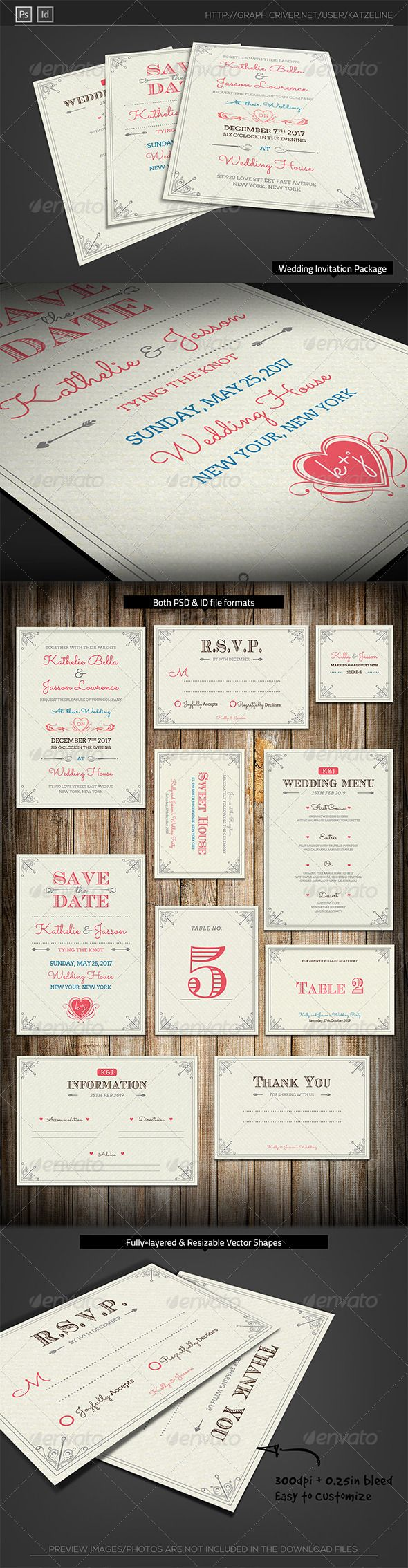 Fresh Royal Wedding Invitation Package joy love