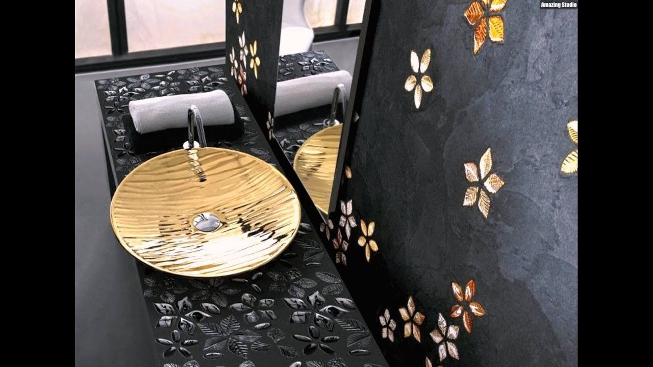 Badezimmer Fliesen Gold Mosaik Fliesen Badezimmer Gold Schwarz