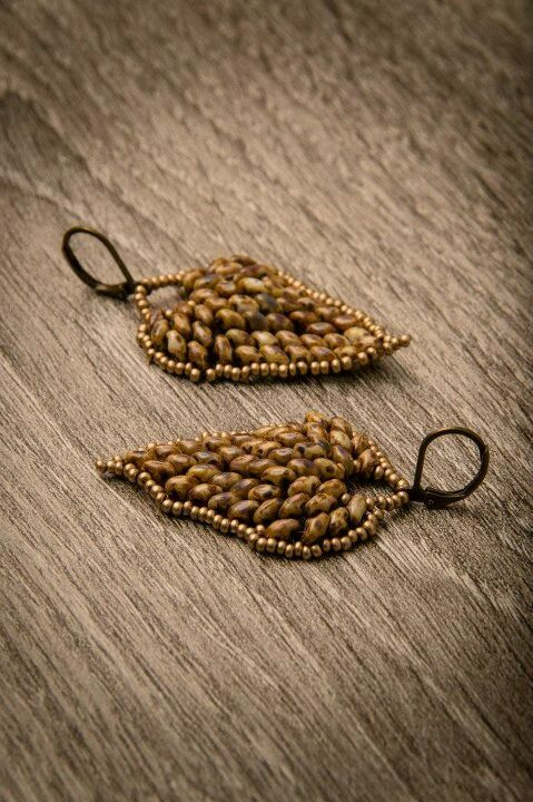 leaf earrings of superduos