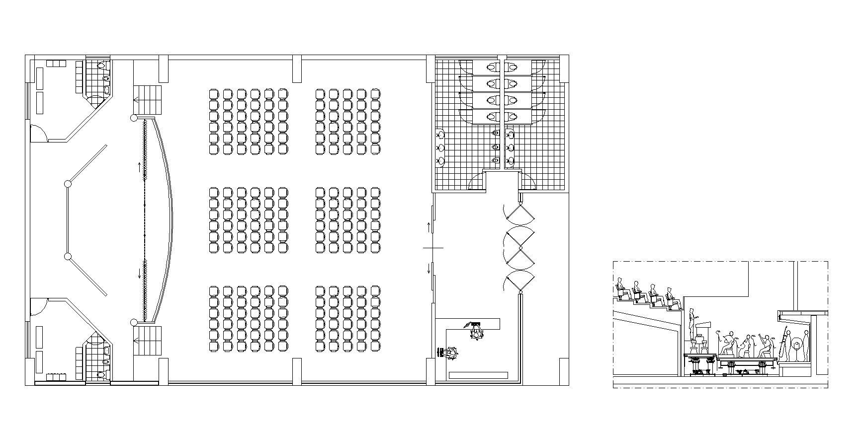 Free Theater Plan Cad Design