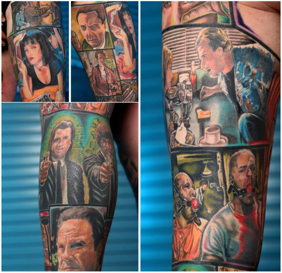 Awesome Pulp Fiction Tattoo Comic Book Style Love It Pulp Fiction Tattoo Comic Book Tattoo Pulp Fiction