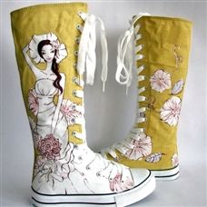 painted shoes... a bit of girly whimsy