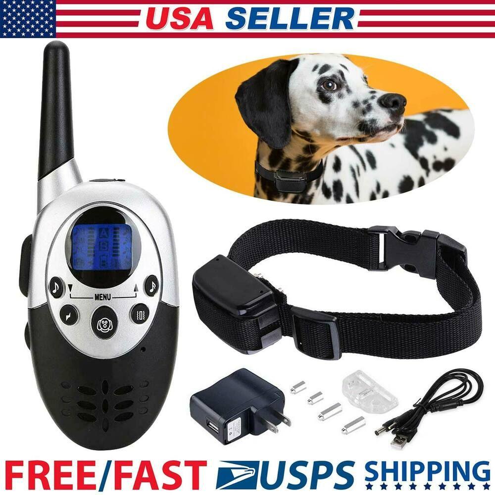 1000 Feet Waterproof Dog Shock Collar Wiz Remote Electric For