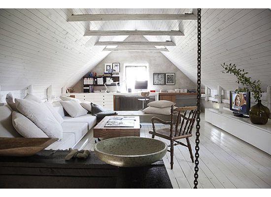 Attic finishing idea love the ceiling walls and all the - Libros de decoracion de interiores gratis ...