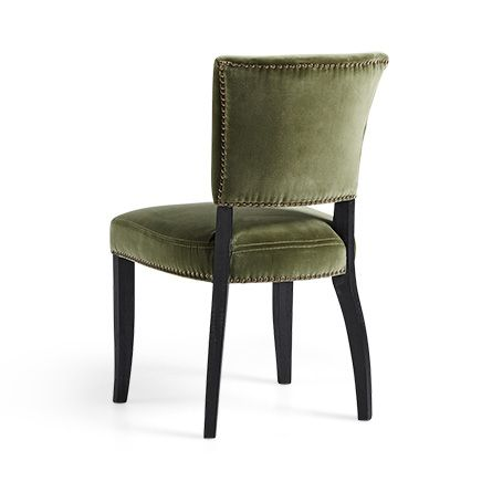 Fallyn Dining Side Chair In Velvet Green | Side Chair, Dining And  Upholstered Dining Chairs