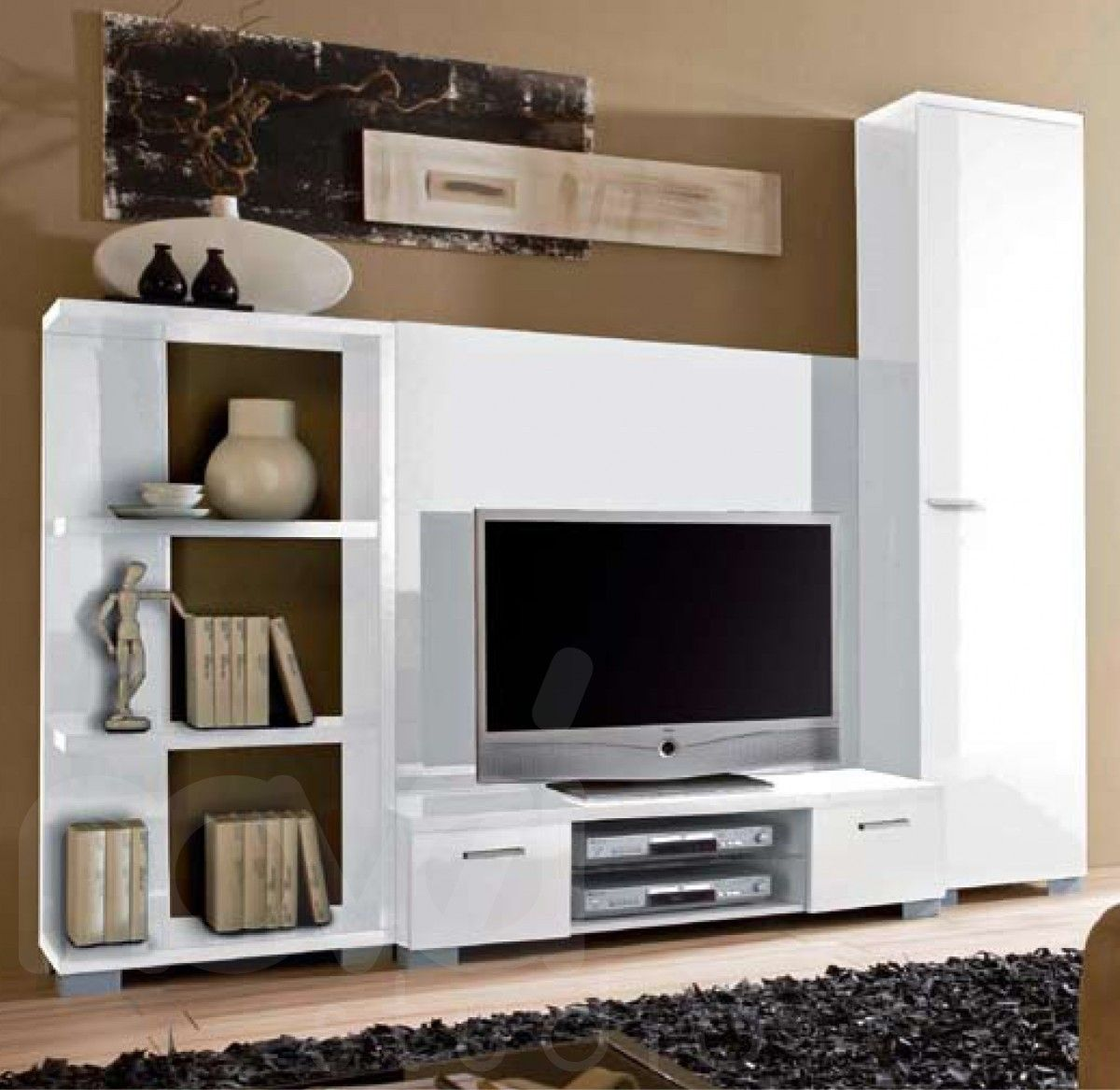 cool black and white tv wall units modular furniture small living room | Contemporary+Wall+Units | Modern City TV Unit :: Modular ...