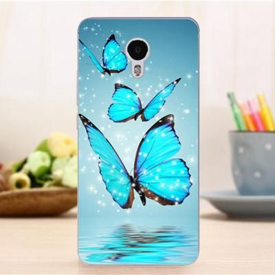 Funda Case Acer Liquid Z6 Plus Coques Soft Tpu Printed Cover For Acer Liquid Z6 Plus Butterfly Painting Blue Butterfly Wallpaper Butterfly Wallpaper