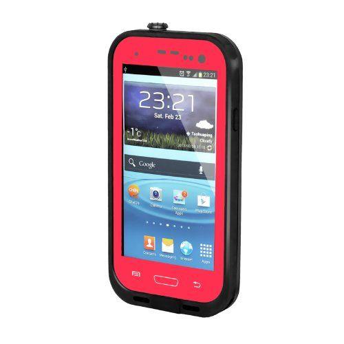 Waterproof pink and black case.