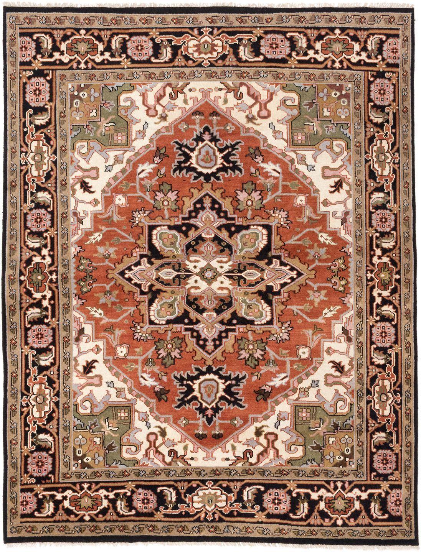 Royal heriz handmade black brown area rug products pinterest