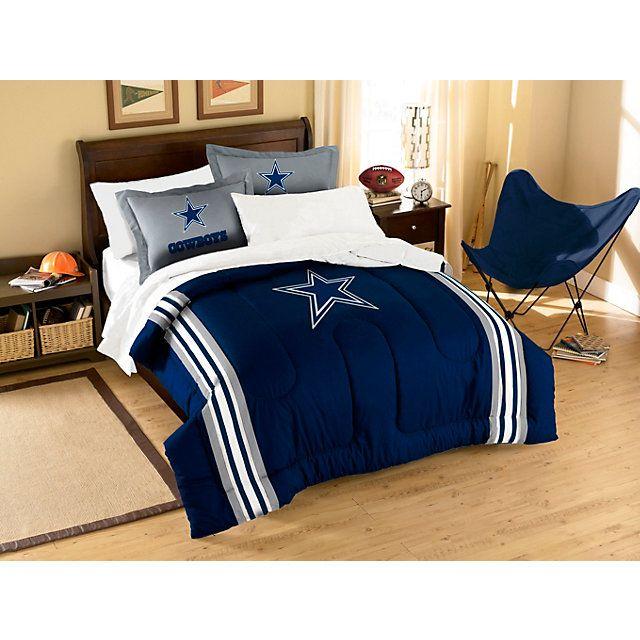 Dallas Cowboys Applique Comforter Bedding Set  Twin