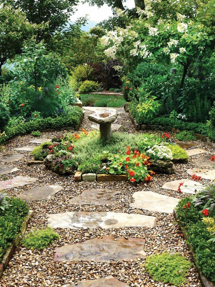 gartenweg mit kies und natursteine anlegen | Gartengestaltung ...