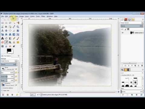 Feather The Edges Of A Photo Create A Vignette Youtube With