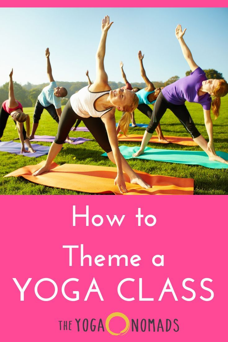 How to theme a yoga class with images yoga class