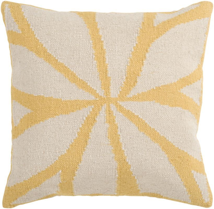 Surya FA-012 Square Indoor Decorative Pillow with Down or Polyester Filling from 18 x 18 Down Filler Home Decor Pillows Pillows