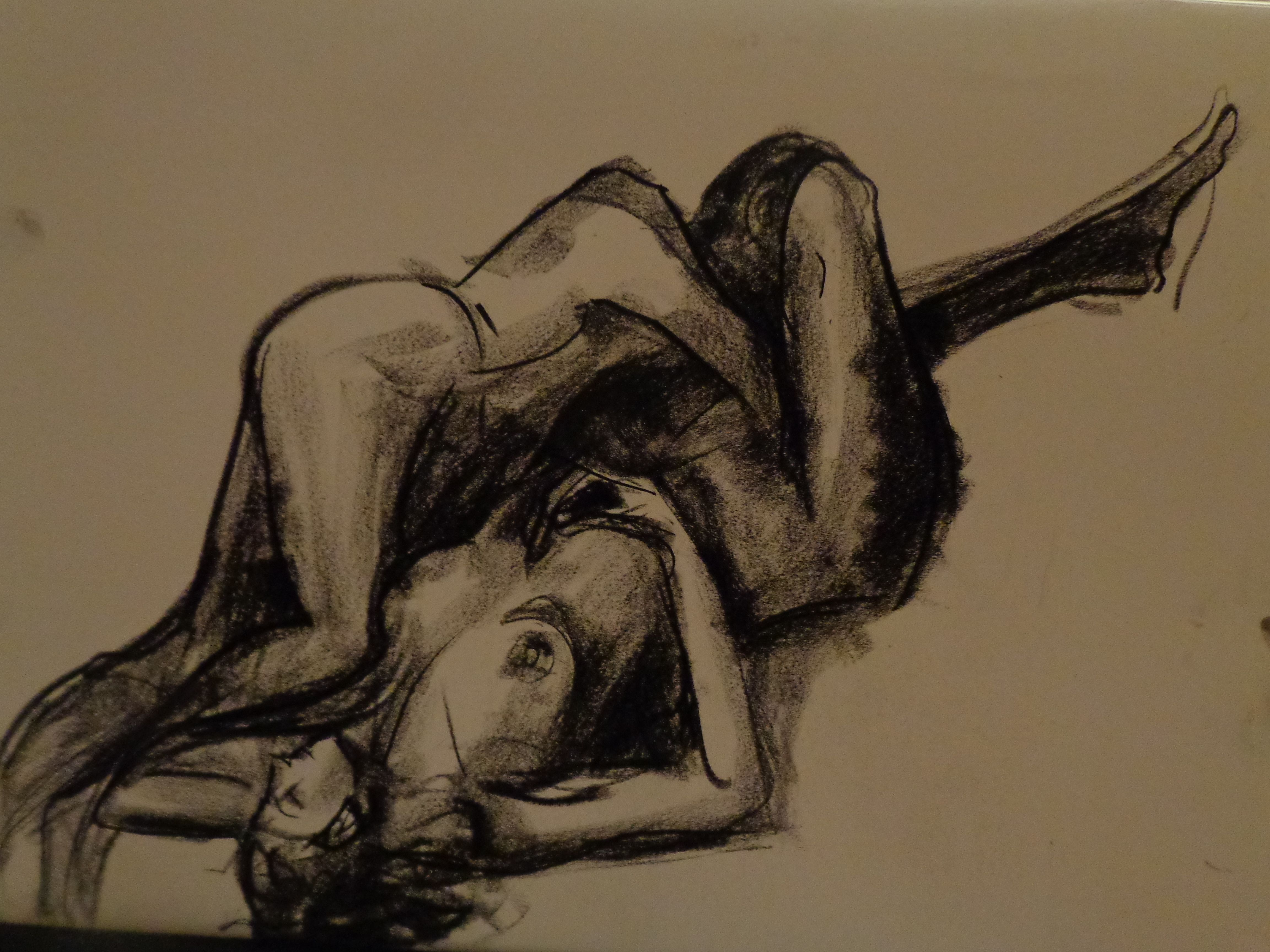16oct17 Life Drawing Class Partnered Figure Study Chicago