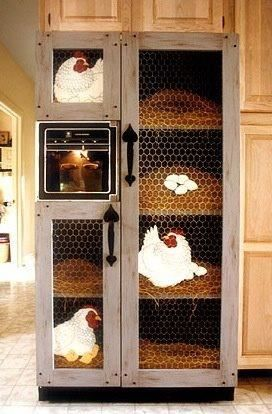 Refrigerator door cover.