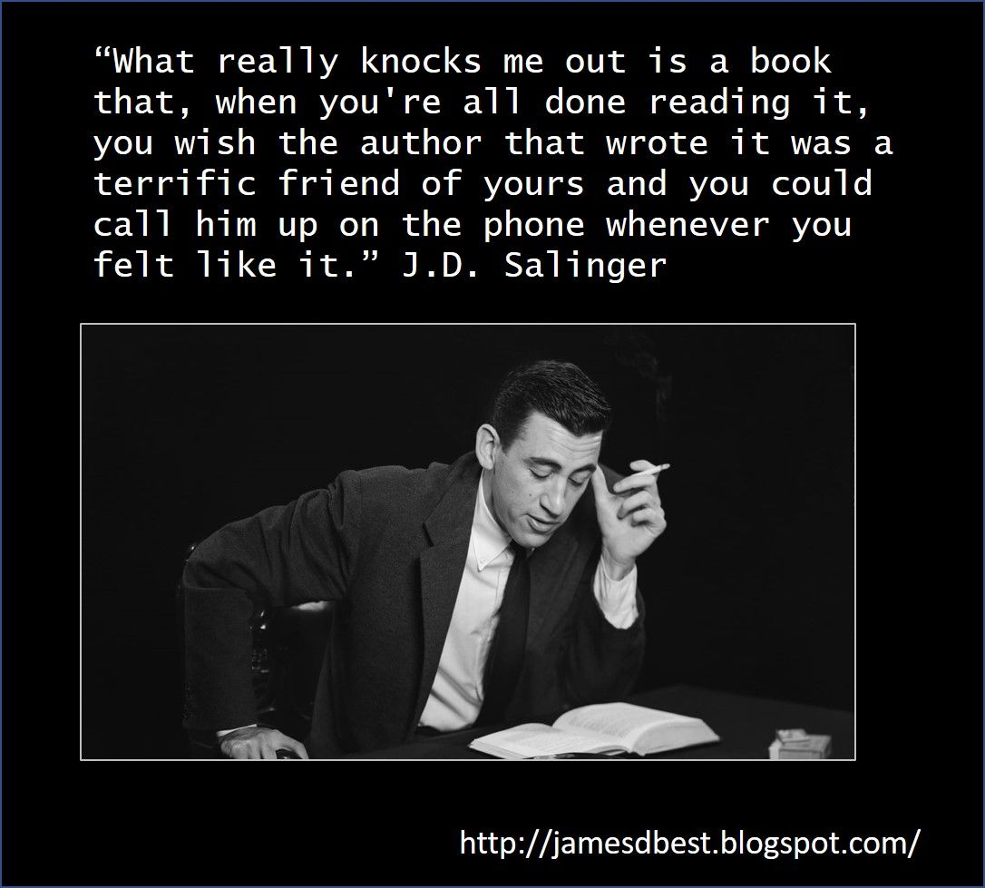 J. D. Salinger Author quotes, Famous author quotes, Quotes
