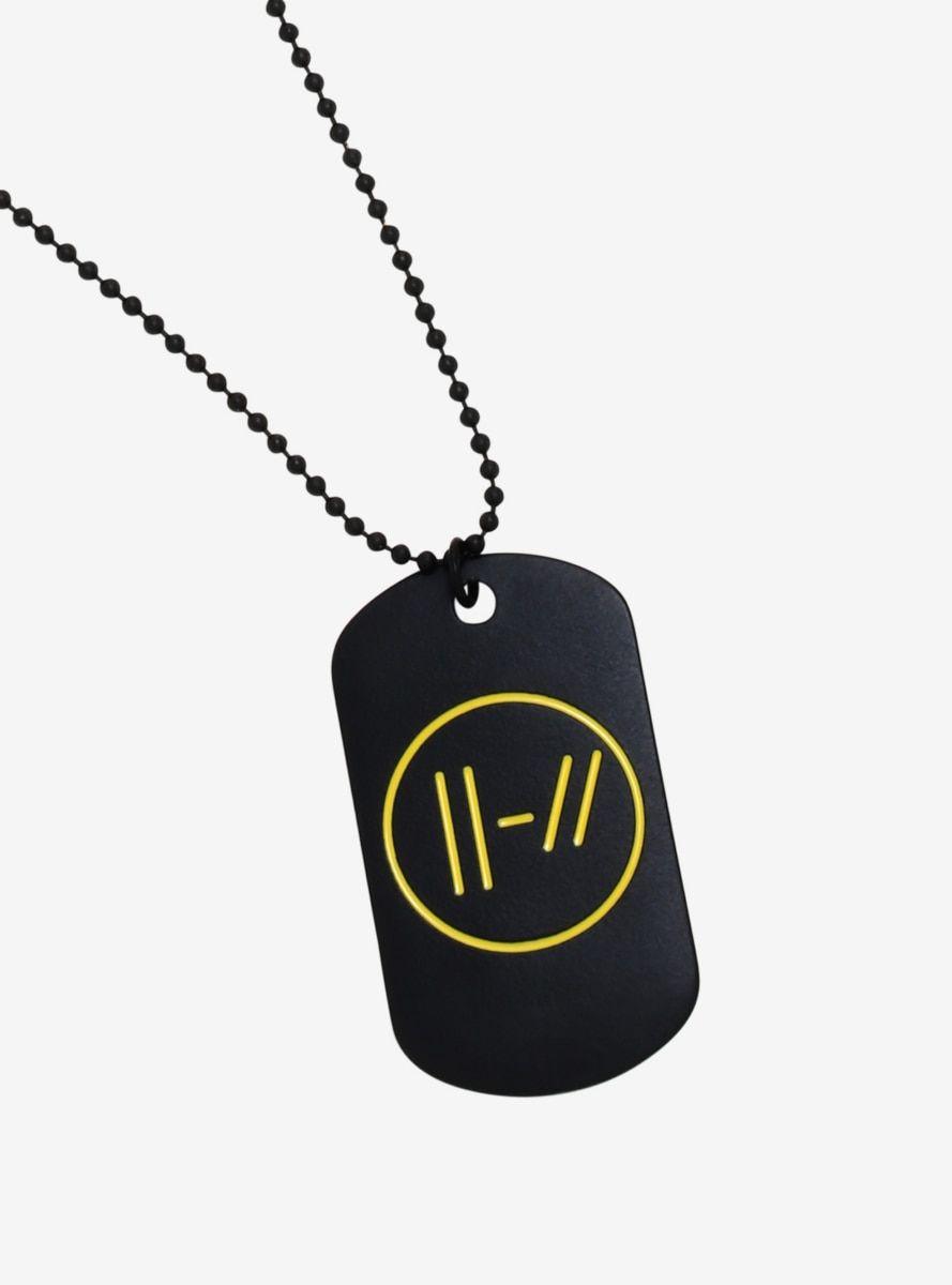 Twenty One Pilots Dog Tag Necklace In 2021 Twenty One Pilots Merch Twenty One Pilots Twenty One Pilots Symbol