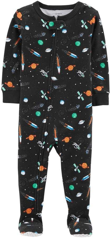 f892b1f24c42 Baby Boy Carter s Outer Space Footed Pajamas