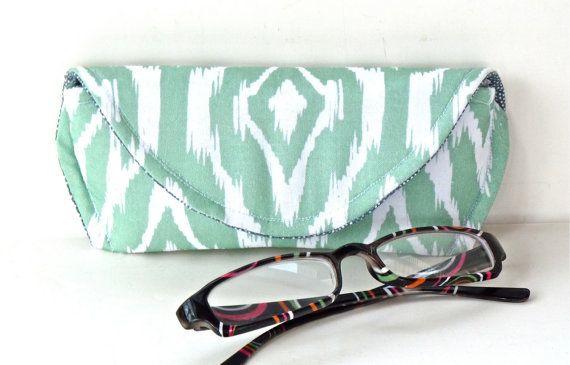Mint Green Ikat Reading Eyeglass or Sunglass by nangatesdesigns, $12.00