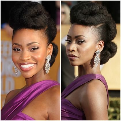 Another beauty look we loved on the red carpet of the 2013 SAG Awards belongs to Mad Men actress Teyonah Paris! What do you think?
