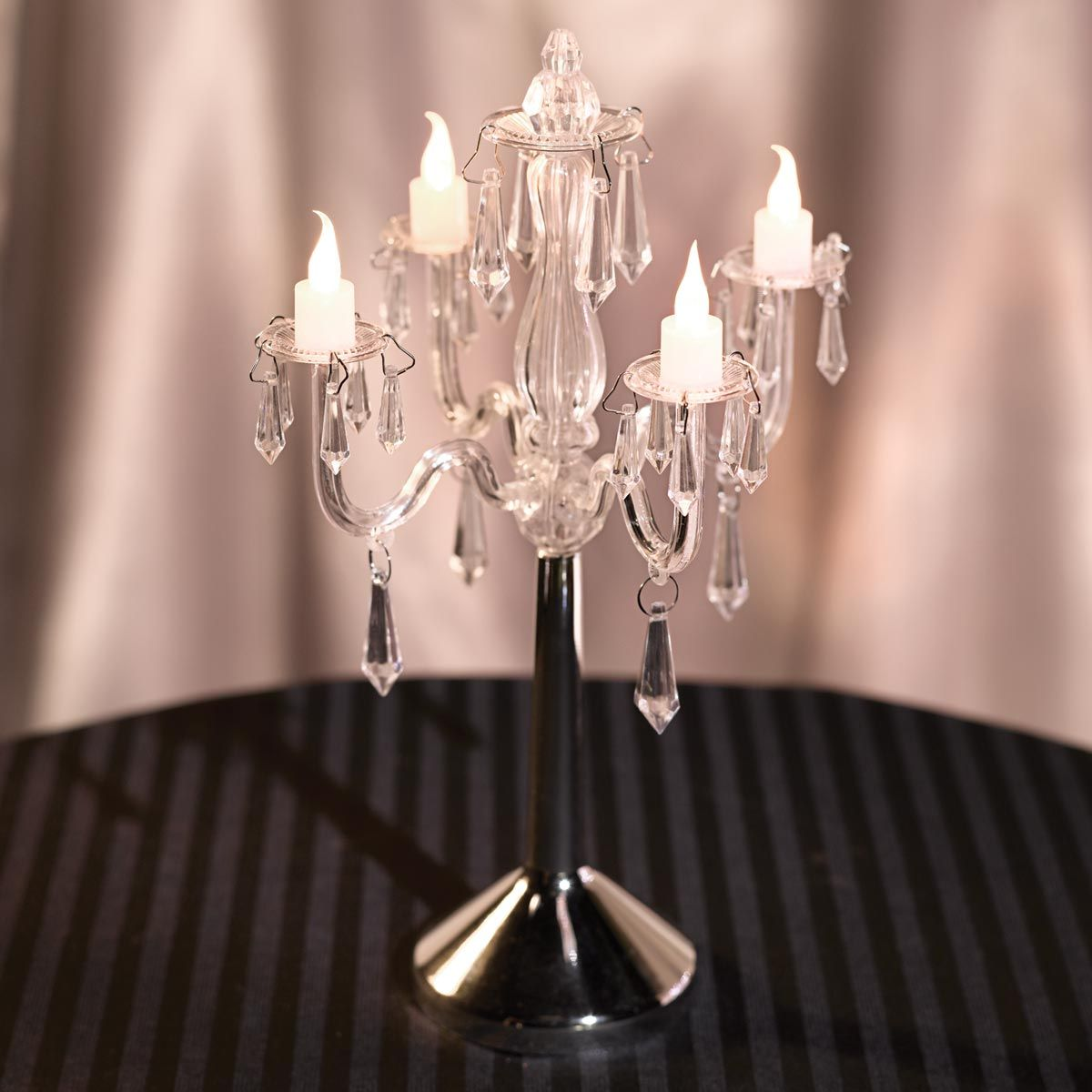 Pin by paula beloved on diy redecorating pinterest chandelier bring the fancy look of a candelabra to your prom tables with this exquisite crystal chandelier centerpiece aloadofball Images