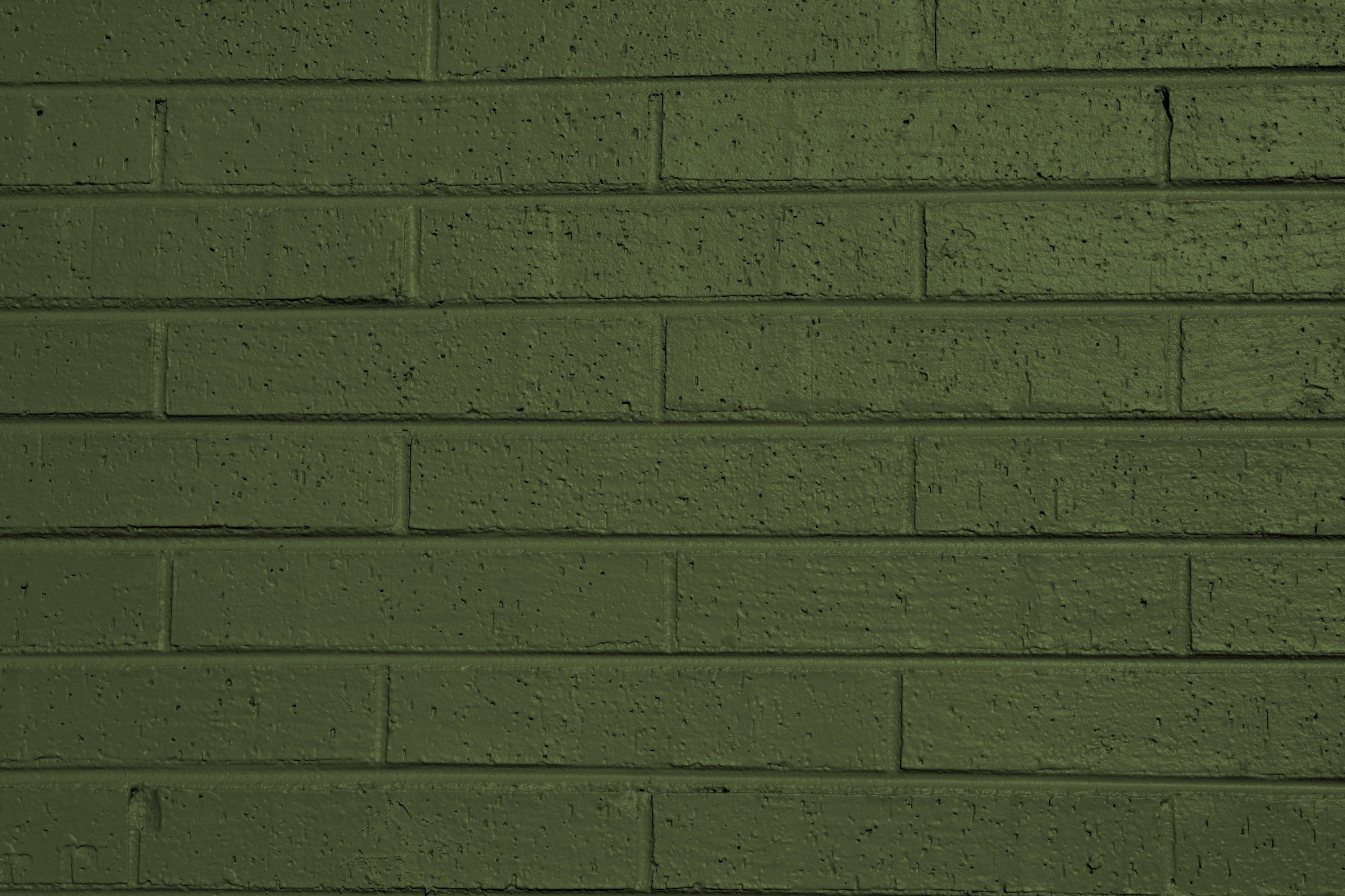 Olive Green Painted Brick Wall Texture Green painted