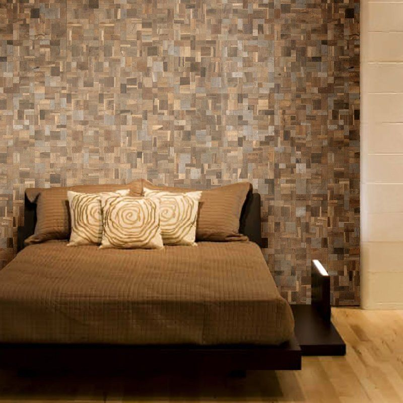 Envi Wood Mosaic Wood Mosaic Tile Wood Mosaic Wall Tiles Bedroom wall tiles ideas