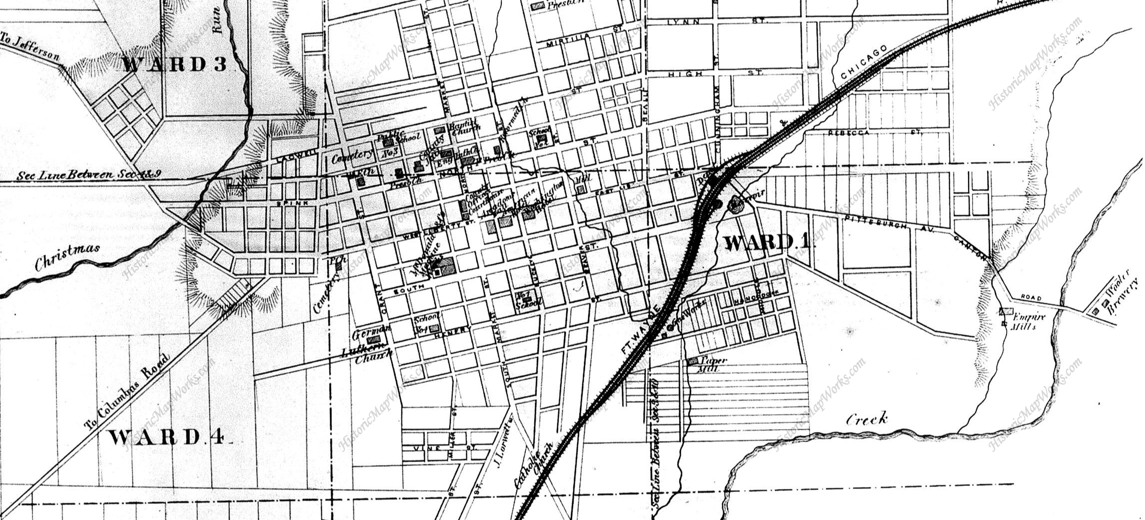 Map Of Downtown Wooster Ohio