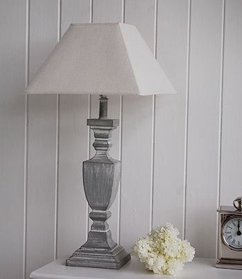 Antique Grey Table Lamp With Square Shade Lighting Pinterest