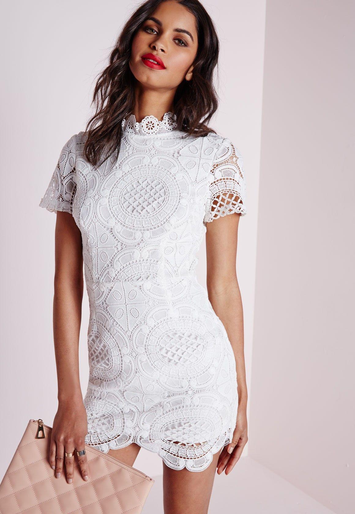 Missguided - Robe en dentelle blanche festonnée   cyrielle crushes ...